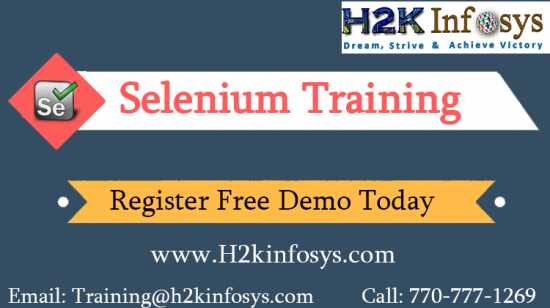 Selenium Training Online with Real Time Project